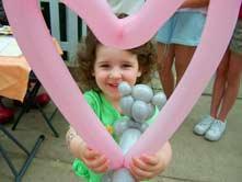 Heart Shape Balloon character