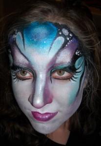 prom girl facepainting