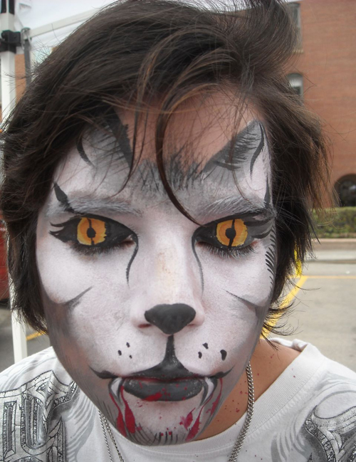 Cute Mime Makeup Simple Wolf Face Paint...